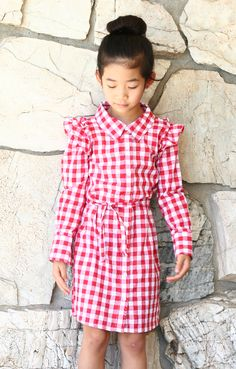 Life is Beautiful: DIY: Turn a XL women's shirt into a girl's dress