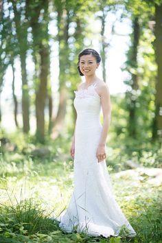 Photography: Jenny Moloney Photography - jennymoloney.com Wedding Dress: Romona Keveza - romonakeveza.com   Read More on SMP: http://www.stylemepretty.com/2014/11/04/elegant-crane-estate-wedding/