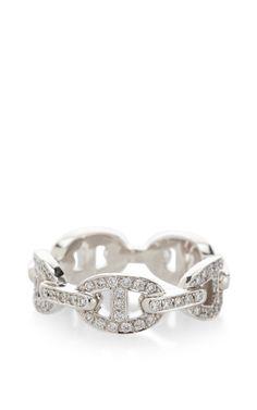 Hermes Enchainee 18K White Gold Diamond Ring by Portero for Preorder on Moda Operandi