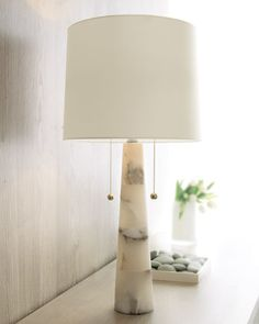 """OPTION TO REPLACE ALABASTER LAMP """"Sydney"""" Marble Lamp by Arteriors at Horchow."""