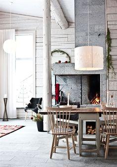 Timber House in Sweden #design #interior #house #sweden #fireplace #concrete #interioridea #designidea #missdesign #decor
