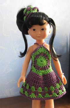 Patron Robe au crochet pour poupée Chérie de Corolle