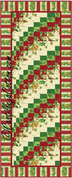 Christmas Rainbow Bargello Quilt Pattern Fabric: www.northcott.com A Christmas Story This reminds me of something my (paternal) grandmother might have made. She lived in rural Alabama (and was feisty as hell), but she could churn some of the best butter you ever tasted---and made beautiful quilts!