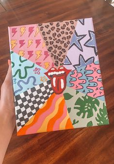 #painting #vsco #pattern #cheetah #rollingstones #tongue #art Simple Canvas Paintings, Easy Canvas Art, Small Canvas Art, Mini Canvas Art, Cute Paintings, Diy Canvas, Hippie Painting, Trippy Painting, Diy Painting