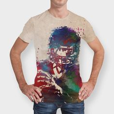 Discover «american football player», Numbered Edition Men's All Over T-Shirt by Justyna Jaszke - From $39 - Curioos