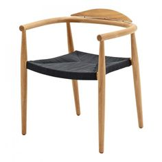 Dansk Stacking Chair with Arms  Buffed Teak (Flint Rope)