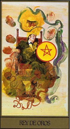 King of Coins - Dali Universal Tarot by Juan Llarch, Salvador Dali
