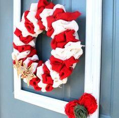 candy cane burlap wreath