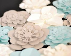 large paper flower for wedding decoration by MayContainGlitterUK