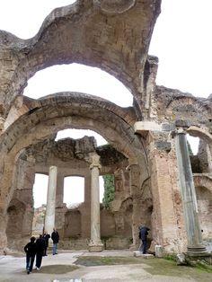 Rome - Hadrian's Villa at Tivoli, the great baths