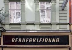 vintage typographic Viennese storefronts