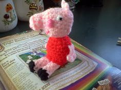Peppa Pig Amigurumi Crochet Doll with Link to Pattern