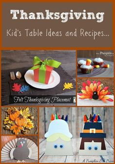 Lots of fun Thanksgiving kids craft ideas