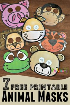 Free printable animal masks are such a fun zoo theme kids activity for toddler preschool and kindergarten age kids includes pig monkey giraffe lion tiger frog and bear animals for kids animals toddler preschoolers zoo animals word search puzzle Jungle Activities, Animal Activities For Kids, Printable Activities For Kids, Toddler Activities, English Activities For Kids, Preschool Printables, Animal Games, Outdoor Activities, Zoo Preschool