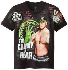 WWE Big Boys' John Cena T-Shirt Shirt, Black, Small / 8 Wwe T Shirts, Boys Shirts, Tee Shirts, Tees, Cheap Shirts, Cool T Shirts, Big Boys, Little Boys, John Cena