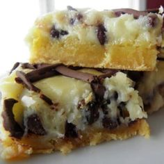 Chocolate Chip Gooey Butter Cake - These are incredible!