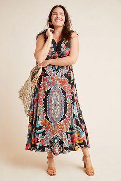 2 ARMONIA MAXI DRESS Vintage 70 Woman Boho Tunic Dress Colorful Cotton Linen Dress Geometric Pattern Long Dress Made in Italy sz