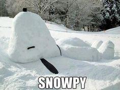 雪が積もったら作ってみたいスヌーピー : Snow-Dog WIN - Cheezburger
