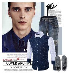 """Sammydress19/60"" by elmaimsirovic ❤ liked on Polyvore featuring Prada, adidas Originals, men's fashion and menswear"