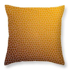 """Orange Abstract Glass Pattern 14"""" x 14"""" Throw Pillow by Christina Rollo.  Our throw pillows are made from 100% cotton fabric and add a stylish statement to any room.  Pillows are available in sizes from 14"""" x 14"""" up to 26"""" x 26"""".  Each pillow is printed on both sides (same image) and includes a concealed zipper and removable insert (if selected) for easy cleaning."""