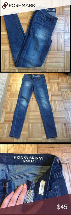 Madewell Skinny Skinny Ankle jeans, size 24 Ankle length skinny jeans from Madewell. Worn only a couple of times, in excellent condition. Like new! Madewell Jeans Skinny