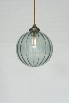 Fulbourn Greeny Blue Coloured Glass Pendant Light in Polishe.- Fulbourn Greeny Blue Coloured Glass Pendant Light in Polished Greeny Blue Glass Fulbourn Pendant Light from Jim Lawrence - Glass Pendant Light, Colored Glass, Light Fittings, Glass Pendants, Pendant Light, Bathroom Pendant, Light, Pendant Light Fixtures, Glass Lighting