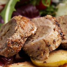 Easy One-pan Pork Tenderloin Dinner With Apples And Onion by Tasty