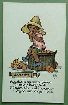 MARSH LAMBERT POSTCARD-PRODUCE OF THE WORLD - JAMAICA - LOVELY FRUITS, TOBACCO | eBay