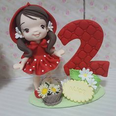 Clay Crafts, Diy And Crafts, Fondant Toppers, Polymer Clay Flowers, Porcelain Clay, Pasta Flexible, Sugar Art, Red Riding Hood, Bjd Dolls