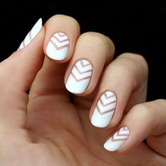 Mani+Monday:+White+Chevron+Negative+Space+Nail+Tutorial