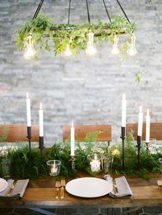 REVEL: Winter Green Tablescape