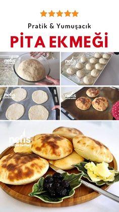 Videolu anlatım Pita Ekmeği (Gobit) Videosu Tarifi nasıl yapılır? 22.837 kişinin defterindeki bu tarifin videolu anlatımı ve deneyenlerin fotoğrafları burada. Snack Recipes, Dessert Recipes, Cooking Recipes, Turkish Breakfast, Food L, Pitaya, No Cook Meals, Fun Desserts, Brunch