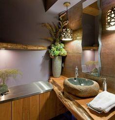 Consultez notre sélection de #vasques en marbre et pierre naturelle pour une salle de bain raffinée dans le style #wabisabi