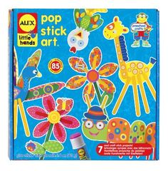 Alex Pop Stick Art:   I have found that all of the Alex Little Hands art projects I have purchased are excellent. The kits are age appropriate and are great fun. My grandchildren (ages 3 and 2) are very proud of the projects they make.