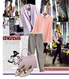 """""""Pastel world with CHICNOVA"""" by cherry1987 ❤ liked on Polyvore"""