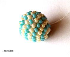 koraliki, kordonki, szydełko, plecionki...: Instrukcja: kulki szydełkowo - koralikowe (modyfikacja wersji z 2012 roku)