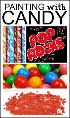 Paint and play with candy art- pop rocks, pixie stick pound painting