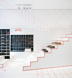 camper retail - great simple idea for the floor plan and finishes, really makes the products stand out.