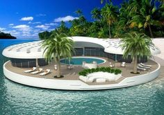Get the Dubai answers you need. Ask the Dubai questions you want. Your most frequently asked questions on Dubai answered. Floating Island, Floating House, Floating Garden, Island Villa, Unusual Homes, My Dream Home, Luxury Homes, Luxury Life, Beautiful Homes