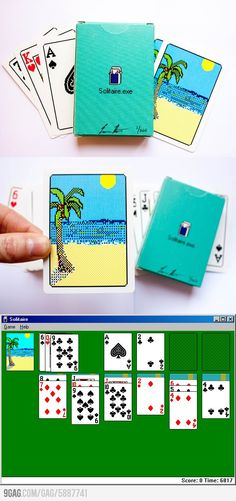 Deck inspired by the Windows 98 Solitaire. I love it.