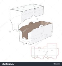 Product Shelf Box With Die Cut Template Stock Vector Illustration 265386824 : Shutterstock
