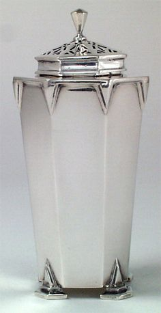 Art Deco English Sterling Muffineer, England, c. 1933