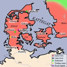 Great Map show Danish as well as the Norwegian raids and settlement ...