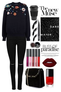"""Day Look 190 Fall Fashion Sweater Weather Style City Outfit"" by fashion-by-katrine on Polyvore featuring Victoria, Victoria Beckham, Boohoo, Lime Crime, Homage, NARS Cosmetics and Chanel"