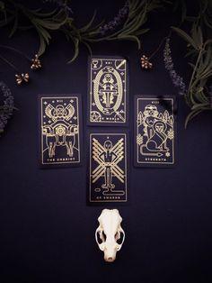 Jeu de Tarot fil doré cartes de tarot jeu de tarot par Milkmusket