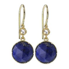 Irene Neuwirth Rose Cut Lapis Earrings with Diamonds - Yellow Gold (12.960 HRK) ❤ liked on Polyvore featuring jewelry, earrings, blue, 18 karat gold jewelry, diamond earrings, 18k earrings, blue diamond earrings and blue gold jewelry