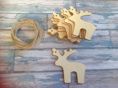 10 x Laser cut christmas reindeer decoration by FredAndBo on Etsy