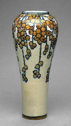 Newcomb College Pottery Orange Berry Vase 1902 Art, Paintings & Prints