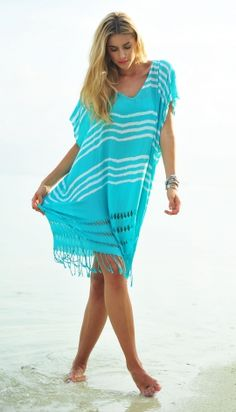 Seafolly Miami Utopia Kaftan - Indigo http://www.cocobay.co.uk/clothing/women-kaftans/seafolly-miami-utopia-kaftan-indigo.html