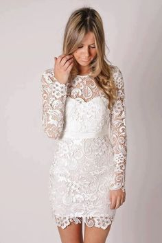 Free Shipping New Arrival Knee Length Short Lace Wedding Dress Reception Dress $140.00